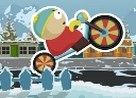 Juego cartman bicicleta en la nieve