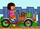 Juego dora en triciclo