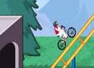 juego bicicleta por montaña rusa
