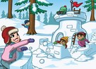 juego guerra de bolas de nieve
