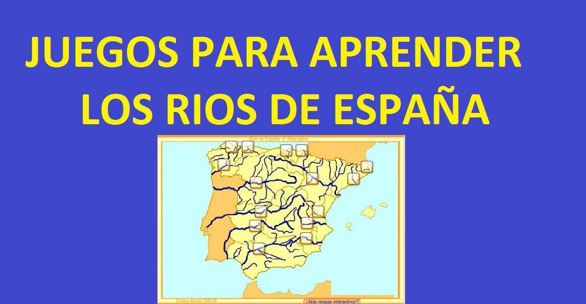 Mapa Rios España Interactivo.Juego Para Aprender Los Rios De Espana Divertido E Interactivo