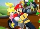 carrera de motos con mario bros