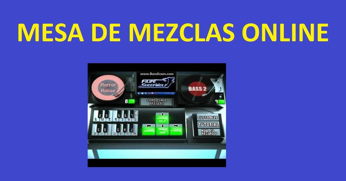 Mesa de mezclas online gratis simulador dj online for Mejores mesas de mezclas